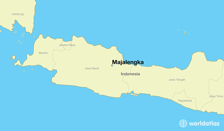 map showing the location of Majalengka