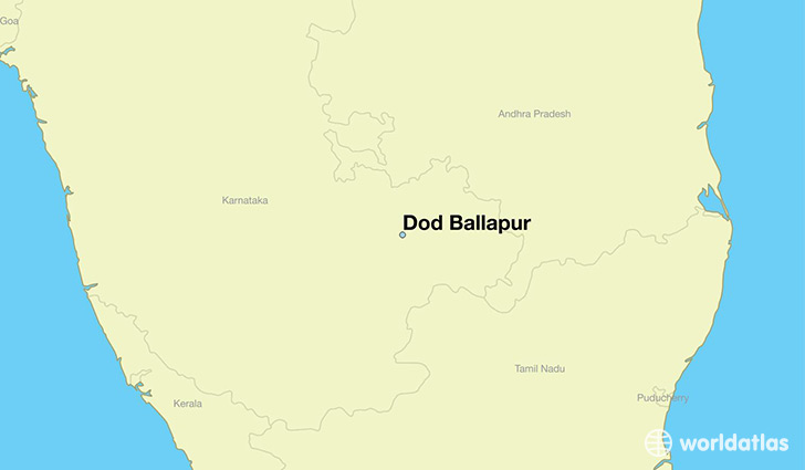 map showing the location of Dod Ballapur
