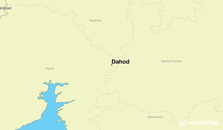 map showing the location of Dahod