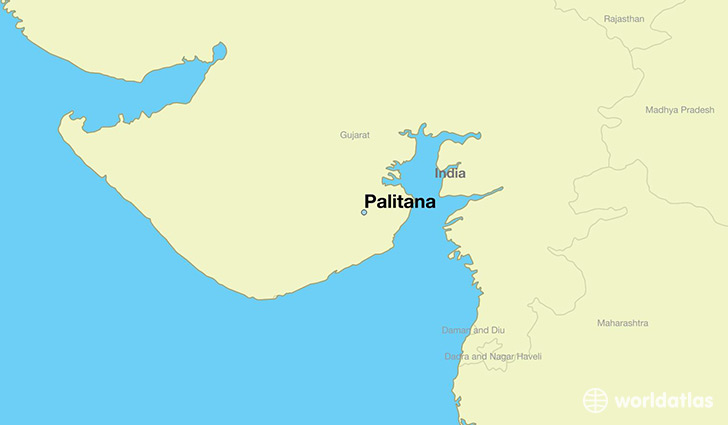 map showing the location of Palitana