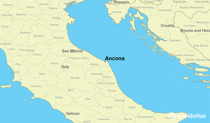 Where is Ancona Italy Ancona Marche Map WorldAtlascom