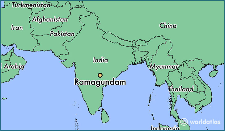 map showing the location of Ramagundam