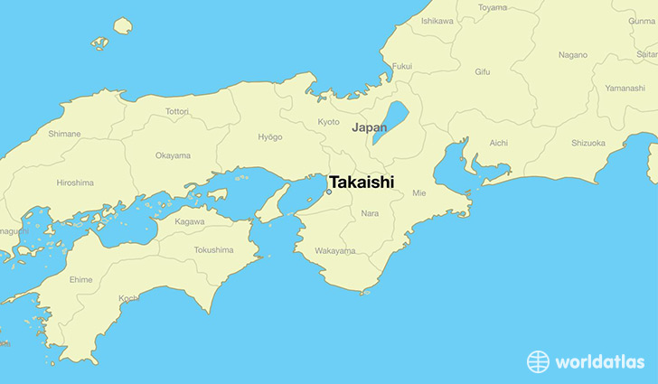 map showing the location of Takaishi