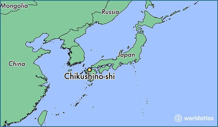 map showing the location of Chikushino-shi