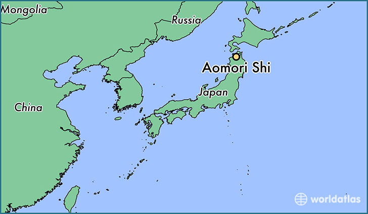map showing the location of Aomori Shi
