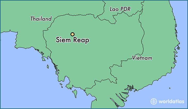 map showing the location of Siem Reap