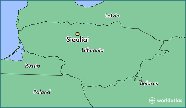 map showing the location of Siauliai