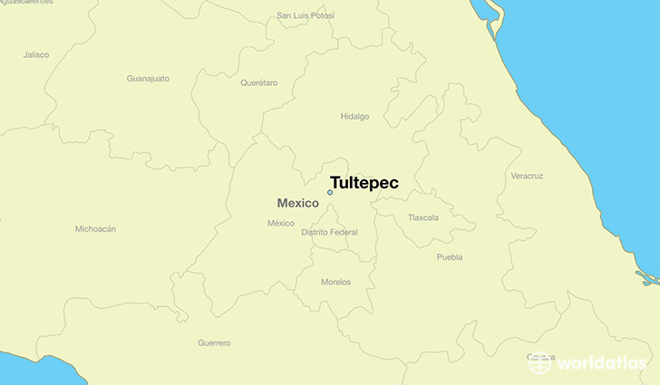 map showing the location of Tultepec