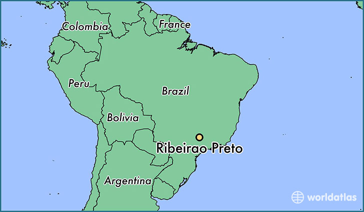 map showing the location of Ribeirao Preto