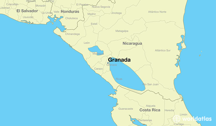 map showing the location of Granada