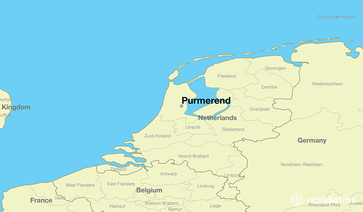 map showing the location of Purmerend