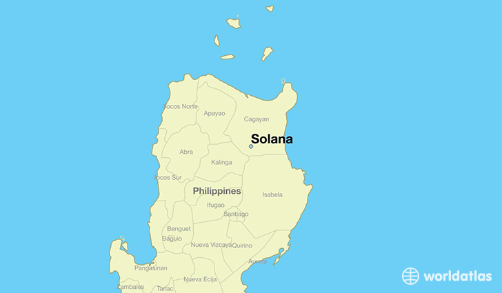 map showing the location of Solana