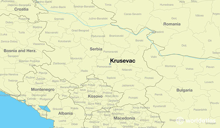 map showing the location of Krusevac