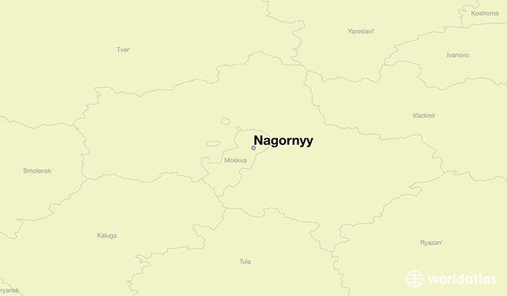 map showing the location of Nagornyy