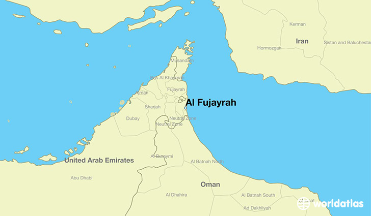 map showing the location of Al Fujayrah