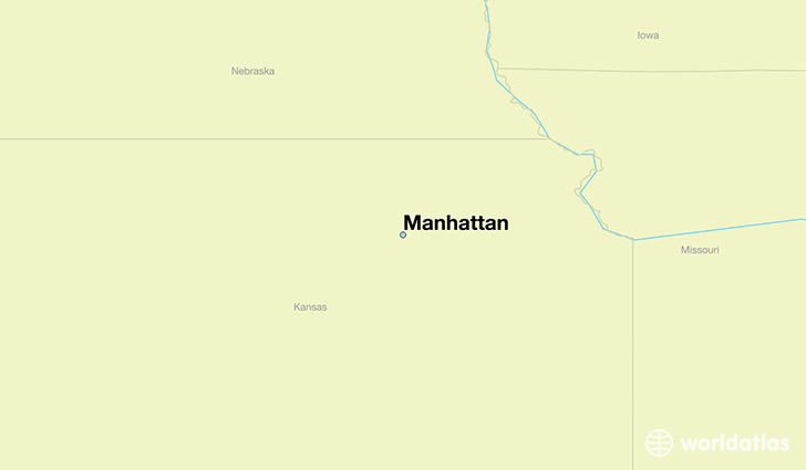 map showing the location of Manhattan