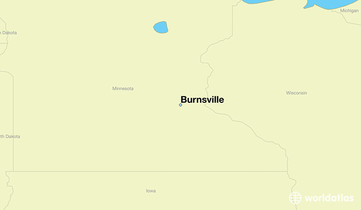 map showing the location of Burnsville