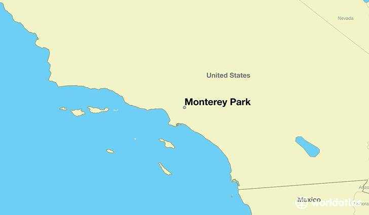 map showing the location of Monterey Park