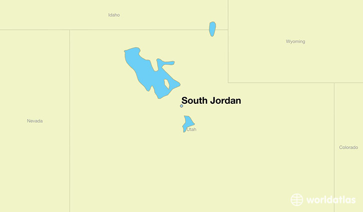 map showing the location of South Jordan