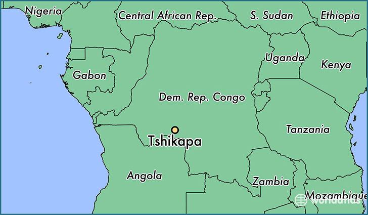 Congo Kinshasa Map Africa.Where Is Tshikapa The Democratic Republic Of The Congo