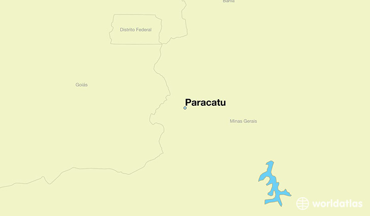 map showing the location of Paracatu