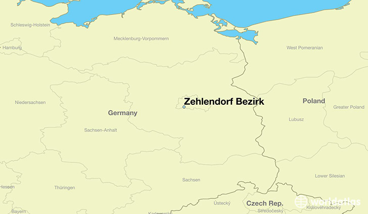 map showing the location of Zehlendorf Bezirk