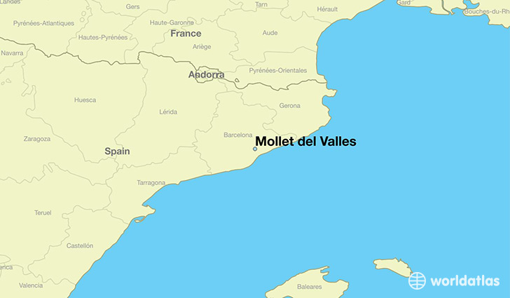map showing the location of Mollet del Valles