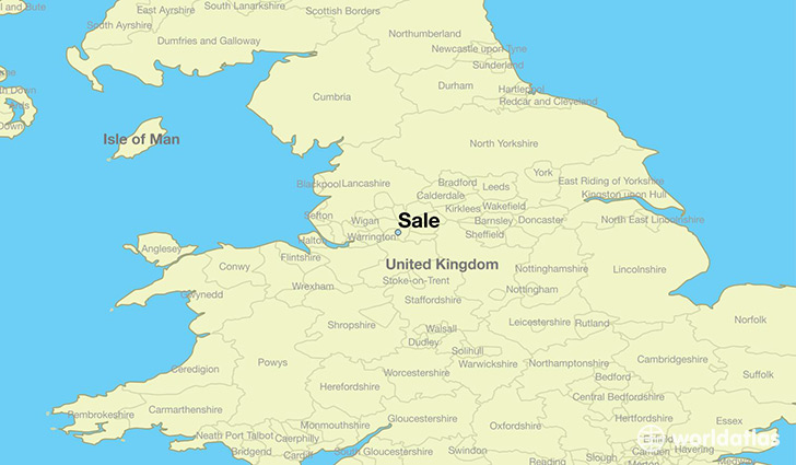 Where is sale england sale england map worldatlas map showing the location of sale gumiabroncs Choice Image