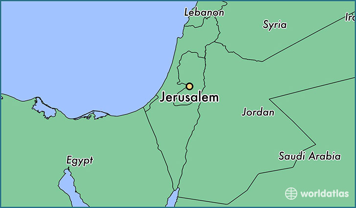 Where Is Jerusalem Israel Where Is Jerusalem Israel Located - Jerusalem map world