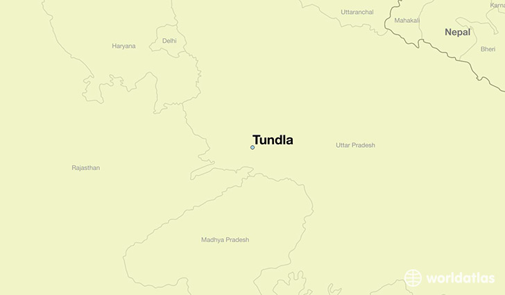 map showing the location of Tundla