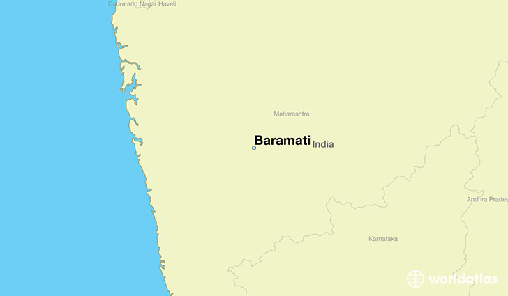 map showing the location of Baramati