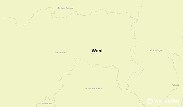 map showing the location of Wani