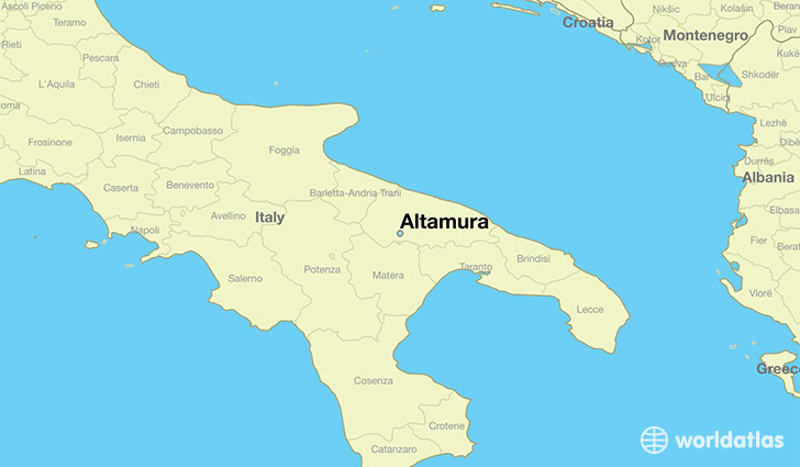 map showing the location of Altamura