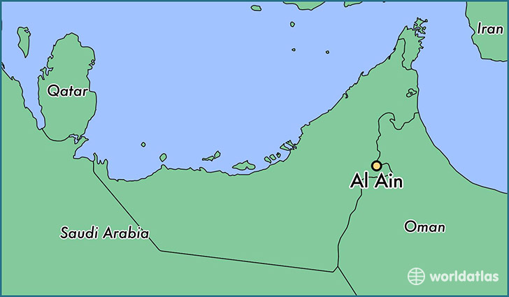 map showing the location of Al Ain