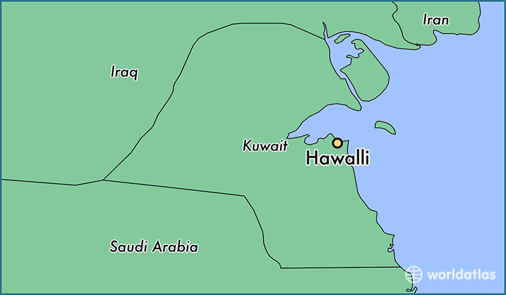 map showing the location of Hawalli