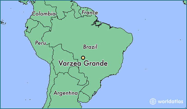 map showing the location of Varzea Grande