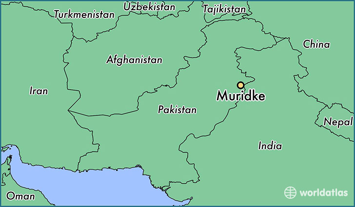 map showing the location of Muridke