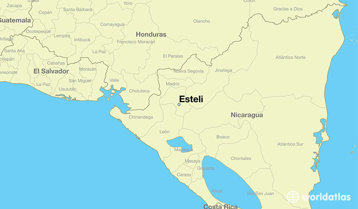 map showing the location of Esteli