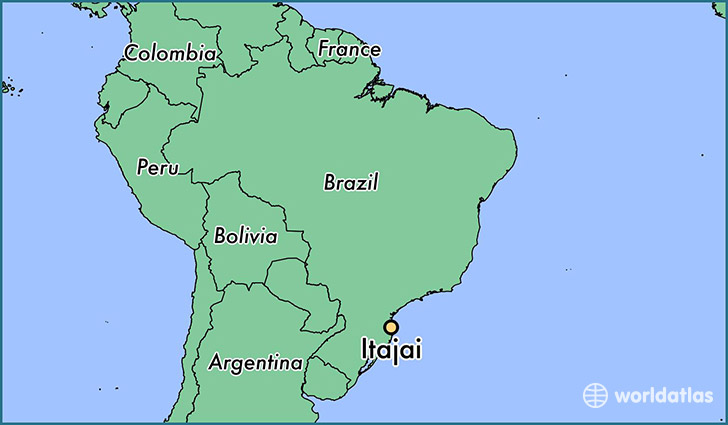 map showing the location of Itajai