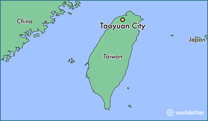map showing the location of Taoyuan City