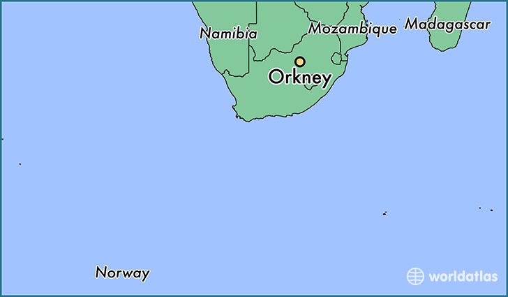 map showing the location of Orkney