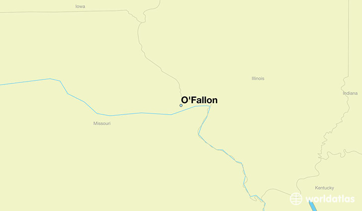 map showing the location of O'Fallon