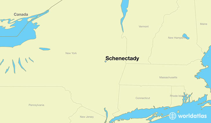Where is Schenectady NY Schenectady New York Map WorldAtlascom
