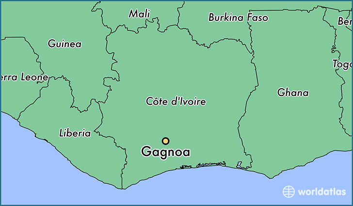 map showing the location of Gagnoa