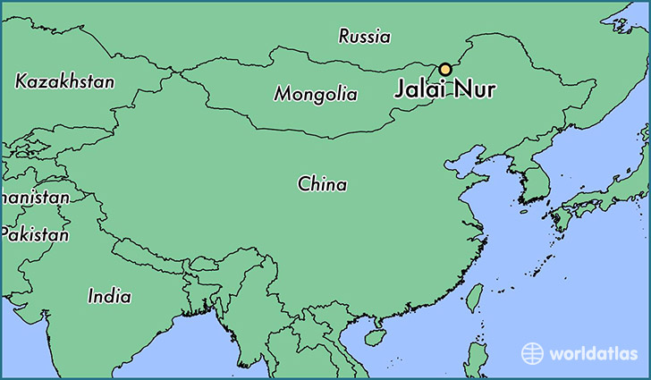 map showing the location of Jalai Nur