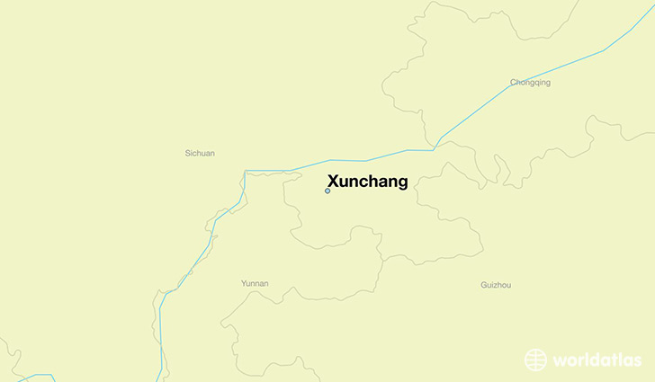 map showing the location of Xunchang