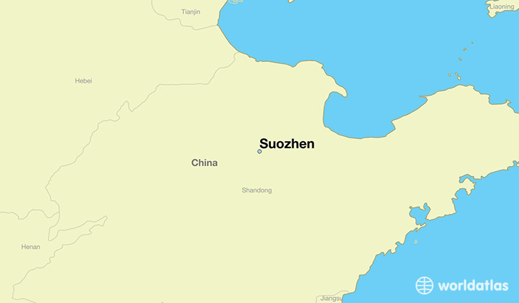 map showing the location of Suozhen