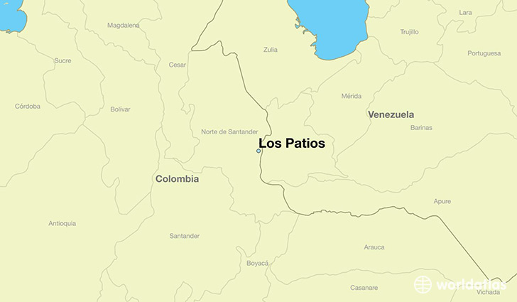 map showing the location of Los Patios