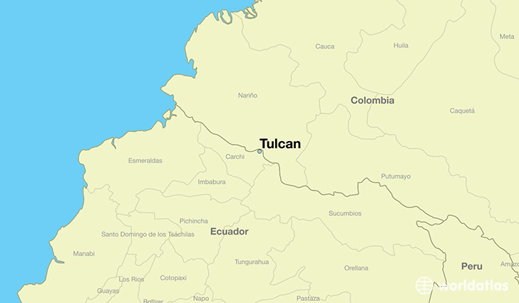 map showing the location of Tulcan