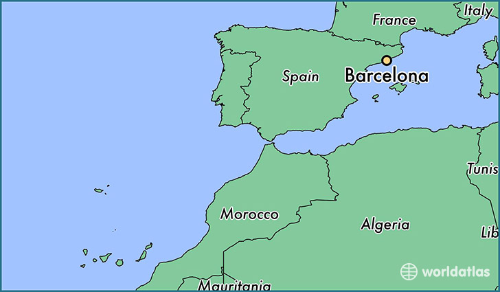 Where Is Barcelona Spain Barcelona Catalonia Map WorldAtlascom - Where is spain located